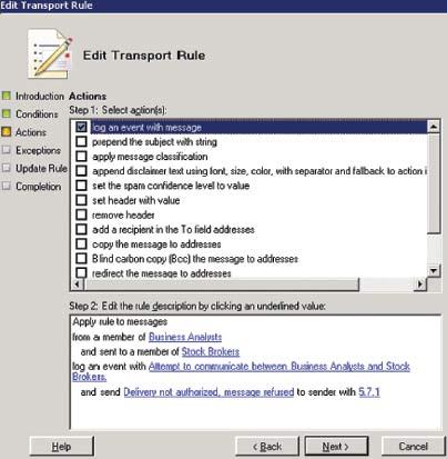 Экран 6. Создание правила длябрандмауэра предназначения