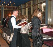 Перед церемонией в фойе была организована выставка работ, вошедших в шорт-лист