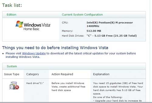 Благодаря программе Upgrade Advisor процедура установки Windows Vista пройдет более гладко
