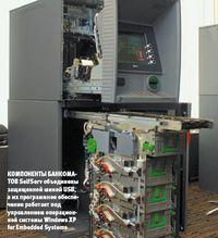 Компоненты банкоматов SelfServ объединены защищенной шиной USB, а их программное обеспечение работает под управлением операционной системы Windows XP for Embedded Systems