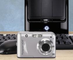 фотокамера Photosmart M547 сматрицей 6,2 мегапиксела итрехкратным оптическим зумом, оснащенная стабилизатором ифункцией устранения эффекта «красных глаз», предназначена главным образом для тех, кто покупает свою первую цифровую «мыльницу» ине обладает навыками фотографирования