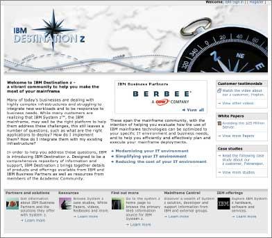 Новый Web-сайт, созданный как онлайновое сообщество пользователей, системных интеграторов, разработчиков программ инаучных учреждений, призван помочь корпорации IBM вборьбе сHP иSun Microsystems за клиентов из быстрорастущего сектора малого исреднего бизнеса