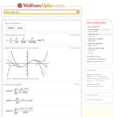 В систему WolframAlpha загружена разнообразная научная и техническая информация