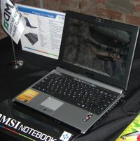 Среди компьютеров MSI на базе новой платформы — 12,1-дюймовый ноутбук PX210