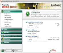 В новой, седьмой версии «Антивируса Касперского» предусмотрено три механизма защиты: сигнатурный поиск вирусов, эвристический анализ кода иконтроль поведения программ