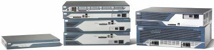 Рисунок 1. В своих интегрированных сервисных маршрутизаторах серий 1800, 2800 и 3800 компания Cisco предлагает встроенные речевые функции и функции безопасности.