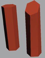 Рис. 13. Исходный объект, созданный методом лофтинга (справа), и деформированный объект (слева)