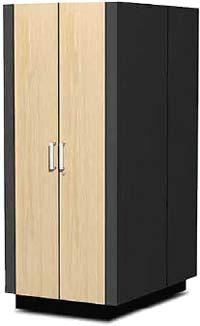 Производимое компанией Kell Systems оборудование, которое  предназначено для установки серверов, выглядит как обычный платяной шкаф, но при этом выполняет функции вентилируемой звукоизолированной серверной стойки