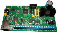 Приемно-контрольная IP-панель Titan-4 позволяет передавать по протоколу TCP-IP информацию особытиях на охраняемом объекте