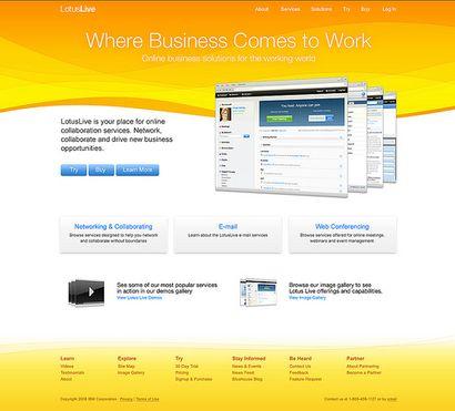 LotusLive представляет собой интегрированный набор сервисов социальных сетей и средств организации взаимодействия, предназначенных для бизнес-пользователей