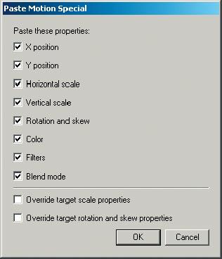 Рис. 4. Панель Paste Motion Special