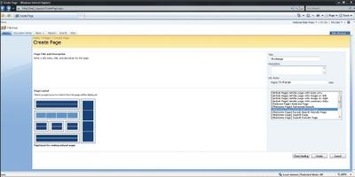 Экран 2. Ввод имени страницы и выбор шаблона