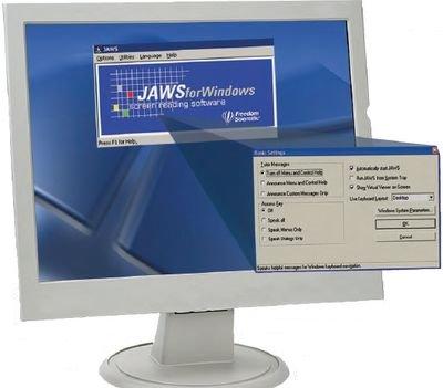 В России наибольшее распространение получил очень гибкий инструмент Jaws for Windows, разработанный компанией Freedom Scientific. Он обладает большим количеством функций. Помимо стандартных средств операционной системы Jaws for Windows имеет собственный механизм получения информации осостоянии пользовательского интерфейса— видеоперехватчик