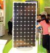 Большие солнечные батареи на потоке