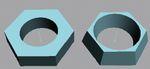 Рис. 14. Исходный объект, созданный методом лофтинга (справа), и деформированный объект (слева)