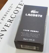 Lacosteникогда не меняет дизайн упаковки, поэтому для неё отлично подходит