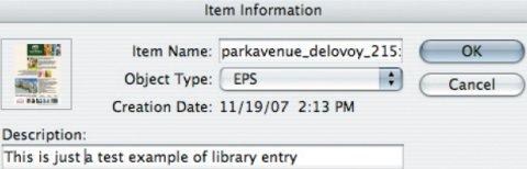 Свойства объекта в Library
