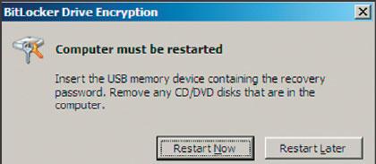 Экран 11. Перезагрузка компьютера для использования пароля восстановления