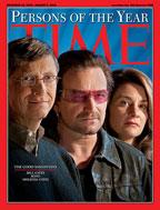 Два года назад журнал Time признал Боно, Билла и Мелинду Гейтс людьми года