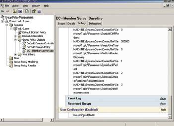 Дополнительные настройки реестра дляTCP/IP