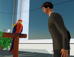 Для развития языковых возможностей самообучающейся системы искусственного интеллекта Cognition Engine, компания-разработчик намерена использовать образ попугая. Аватары ввиртуальном мире будут разговаривать сним
