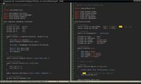 Текст программы на haXe  в окне редактора vim