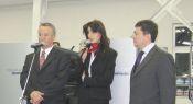 Представители Heidelberg Вернер Альбрехт, Алла Вишнякова и Бахтиер Джанзаков