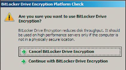 Экран 5. Запуск функции шифрования BitLocker Drive Encription