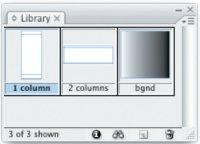 Типичный вид палитры Library